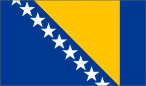 National flag: Bosnia and Herzegowina