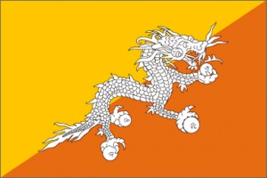 National flag: Bhutan