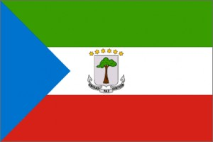 National flag: Equatorial Guinea