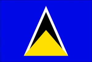 National flag: Saint Lucia