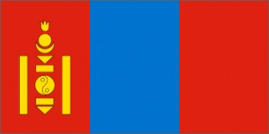 National flag: Mongolia