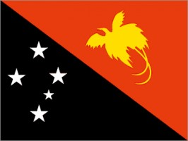National flag: Papua New Guinea