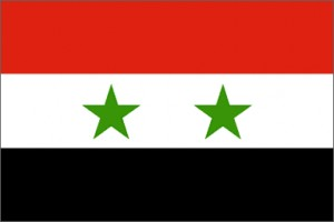 National flag: Syrian Arab Republic
