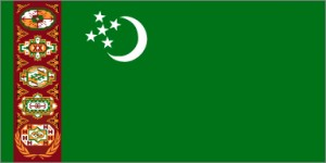National flag: Turkmenistan
